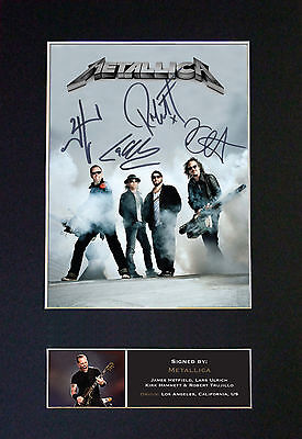 METALLICA Signed Mounted Autograph Photo Prints A4 470