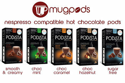 60x Nespresso Compatible Hot Chocolate Pods (multiple flavours)