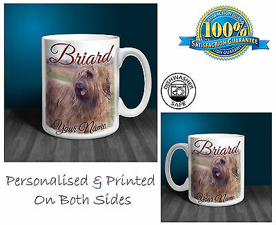 Briard Personalised Ceramic Mug: Perfect Gift. (D179)