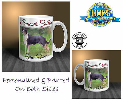 Smooth Collie Personalised Ceramic Mug: Perfect Gift. (D182)