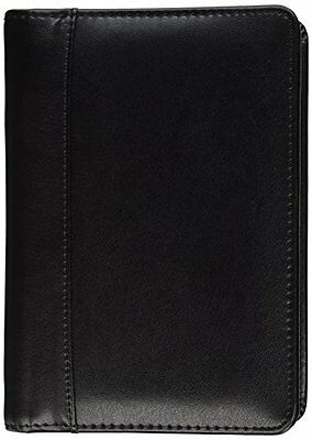 Samsill Regal Business Card Binder Leather - Black 81270