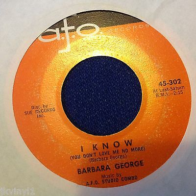 Barbara George-I Know/love-Afo 302. Vg+