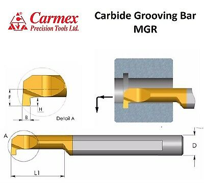 Carmex MGR Grooving Solid Carbide Bar Coolant Channel (PICCO)