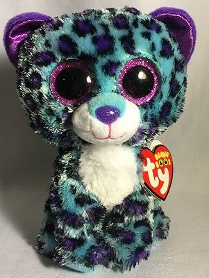 Lizzie Ty Beanie Boos 6 Inch  -  Exclusive - MWMT - leopard - FREE SHIPPING