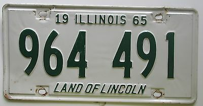 Illinois 1965 License Plate NICE QUALITY # 964 491