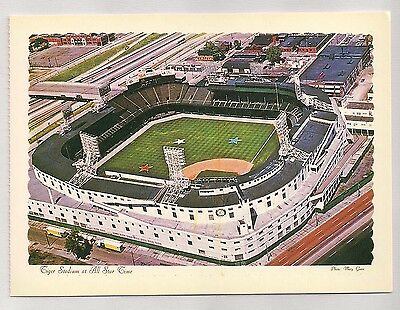Detroit Tiger Stadium at All-Star Game MLB Baseball Postcard