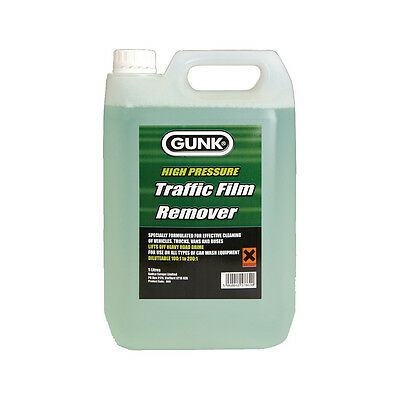 Gunk Traffic Film Remover TFR Car Wash No Caustic Degreaser Cleaner 5 Litre