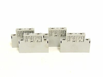 Used Allen Bradley Auxiliary Contact Block 100-SA11 2 Pole, Side Mount, LOT OF 4