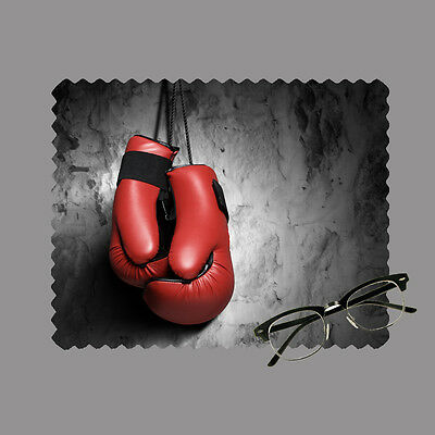 Boxing gloves personalised lens cloth glasses, mobile/laptop screen gift sports
