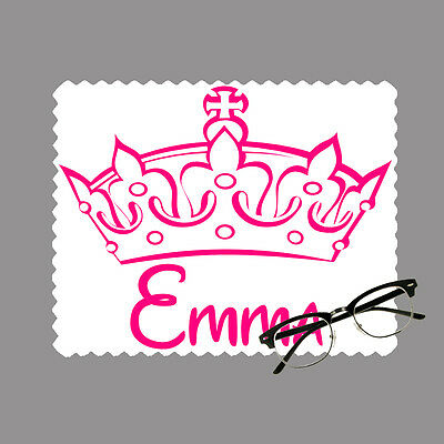 Princess crown personalised lens cloth glasses, mobile/laptop screen gift sports