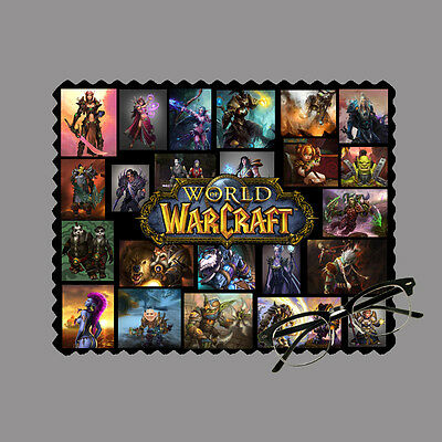 World of warcraft personalised lens cloth glasses, mobile/laptop screen gift