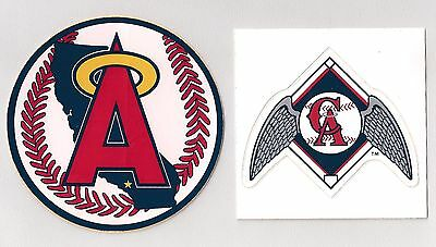 California Angels 1986-1992 Primary Logo & 1993-96 Alternate Logo Stickers