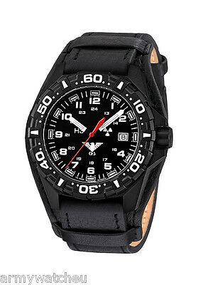 KHS Tactical Watches Police Watch H3 Military Watches Leather Bracelet KHS.RE.R