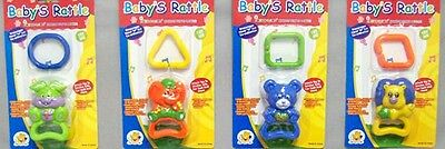 Baby Goods Baby Rattles On Blister Packs  Wholesale 6Pc Lot  (BR8709  Z )