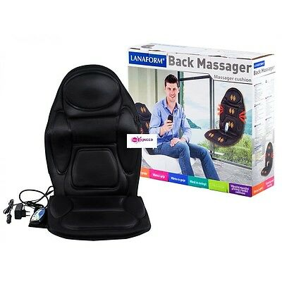 Back massager cushion 4 massage areas: upper back lower back hips thighs