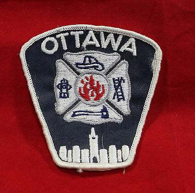 Ottawa Ontario Fire Department Cloth Shoulder Patch (inv 7194)