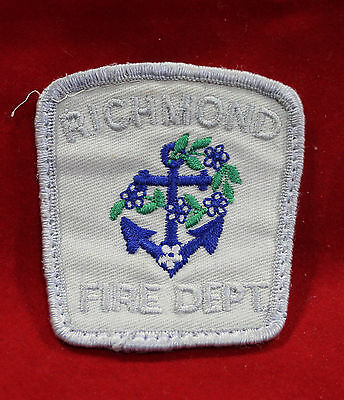 Richmond British Columbia Fire Department Cloth Shoulder Patch (inv 7302)