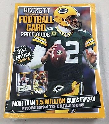 2016 Beckett Football Annual Price Guide Magazine - 32nd Ed - QTY - Free Ship