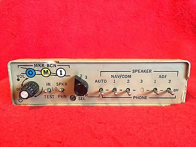 Cessna Audio Panel With Marker Beacon Receiver Tan