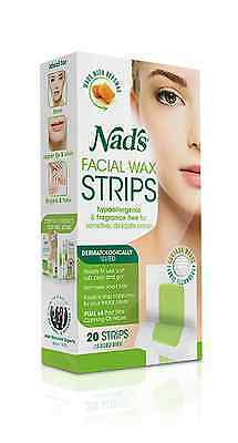 => Nads Hair Removal Facial Wax Strips 20 Strips