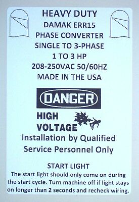 New Improved 1-3 HP Static Phase Converter 220-250VAC Mill Drill Saw USA 50/60Hz