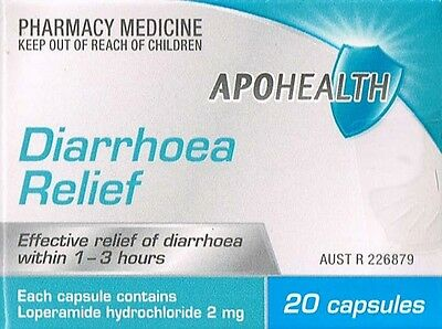 ===> 3X Apohealth Diarrhea / Diarrhoea 20 Capsules 60 Total, = Imodium