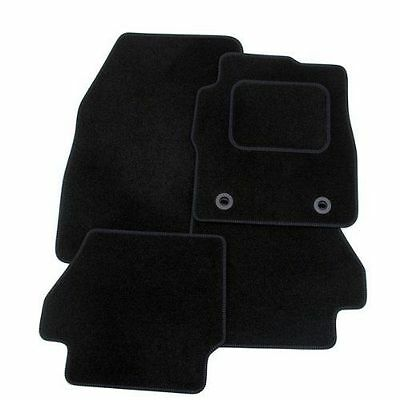 BMW E39 5 Series 1998-2003  TAILORED CAR FLOOR MATS- BLACK  With Black TRIM