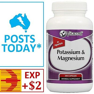 Potassium chelate capsules 60mg x 200 (as aspartate) with magnesium