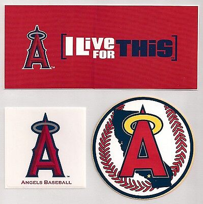 Los Angeles California Angels MLB Decal Stickers Lot of (3)