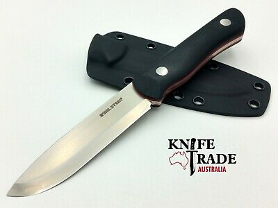 Real Steel Bushcraft II Black 3725 Fixed Blade Knife D2 Tool Steel Scandi Grind