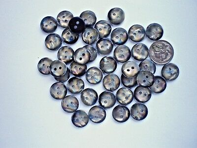 50 BUTTONS SIZE 14mm OPALESCENT