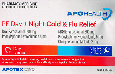 =>Price Smash Apohealth Cold & Flu Relief Day & Night 24 Tablets = Codral D&n