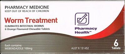 = PRICE SMASH Pharmacy health worm Tablets (= Vermox or Combantrin1 ) 6 tablets
