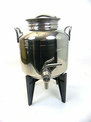 Stainless steel tank / container for olive oil, wine etc... holds 3 litres
