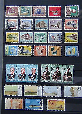South West Africa 1964 1974 Commemorative issues 1961 set to R1 (ex 3c 15c) MNH