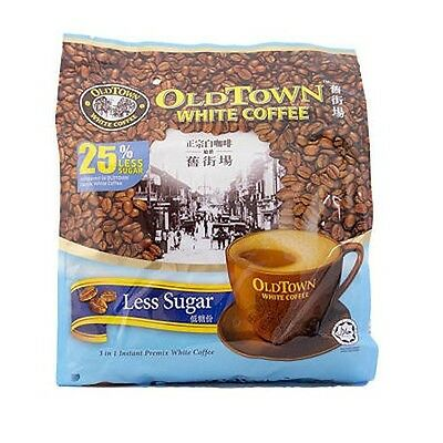 Old Town Ipoh White Coffee Less Sugar Calories Healthy Instant Coffee 15s x 35g