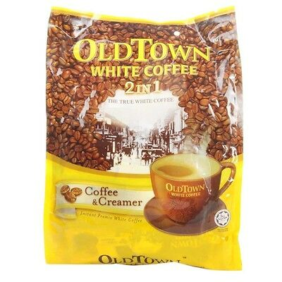 Old Town Ipoh White Coffee & Creamer 2 in 1 No Sugar Instant Coffee 15s x 25g