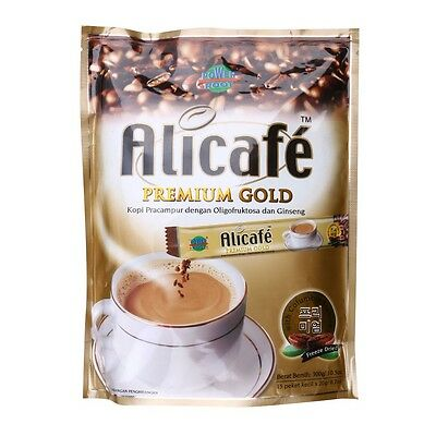 Alicafe Power Root Premium Gold Oligofruktosa Ginseng Instant Coffee 15S x 20g