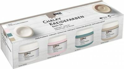 KREUL Chalky Kreidefarben Basis-Set, 4 x 150 ml