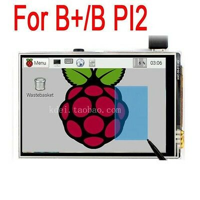 "3.5"" TFT LCD Touch Screen Module SPI RGB Display For Raspberry Pi 3 2 B+ pi2"