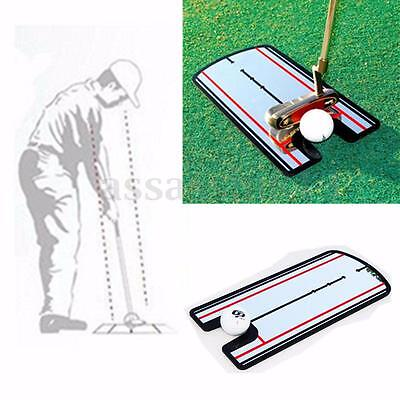 Golf Putting Mirror Training Eyeline Alignment Practice Trainer Aid Portable Bag