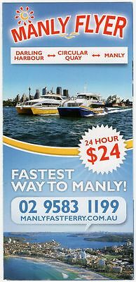 Manly - Darling Sydney 2000 Ferry Timetable $10
