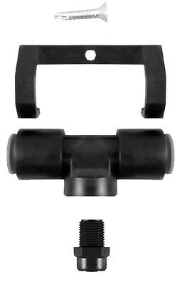 """10 Black Plastic Tee Assembly w/ 3/8"""" Push in-3GPH Nozzle W/Poly Filter"""