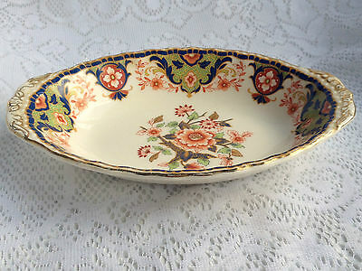 Grindley England Orange/Blue/Gold Small Serving Dish  (181)