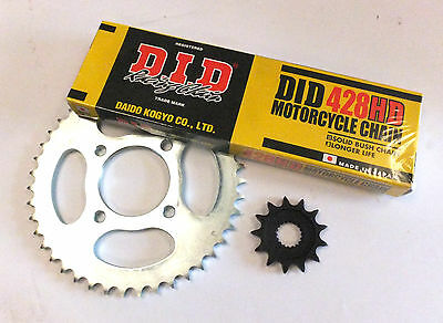 Ksr Grs125 Chain And Sprocket Kit Genuine Ksr Sprockets + Did Chain