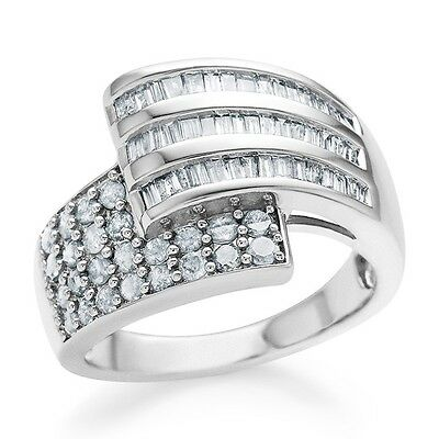 1.00 Carat Diamond Bypass Fashion Ring in Sterling Silver