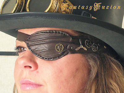 Steampunk Industrial Air Ship Captain Leather Unique Pirate Eye Patch Cosplay