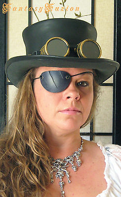 Steampunk Pirate Scratches Cuts Leather Eye Patch Cosplay