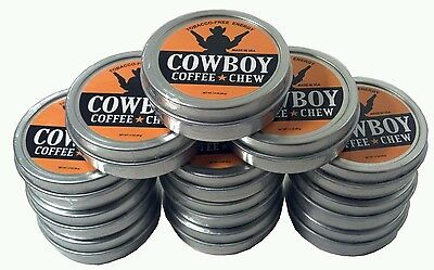 12 Pack Cowboy Coffee Chew Caffeine ENERGIZED Dip Tobacco Snuff Snus USA Rodeo