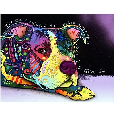 Affection Pit Bull Print 11x14 by Dean Russo (DR03511x14)